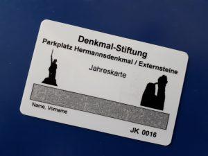 vergünstigt Parken – mit der Jahres-Parkkarte für Externsteine und Hermannsdenkmal